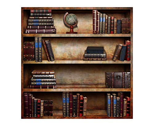 Mejor 5x10ft Wooden Bookshelf Photography Backdrop Library School Books Collection Photo Background Students Artistic Photo Booth Studio Props KP-004 crítica 2020