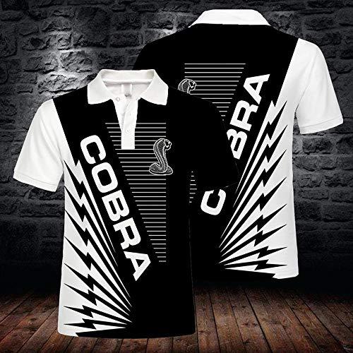 Sommer-Männer T-Shirts Polo-Hemd - Cobra 3D-beiläufige Kurze Hülsen-Druck-Tops Sweatshirt - Geeignet Für Junge Männer Und Frauen A- L