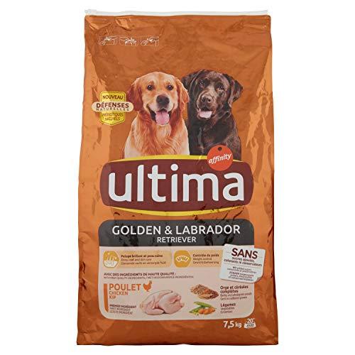 Ultima Croquettes Poulet/Orge pour Chien Labrador/Golden 7,5 kg