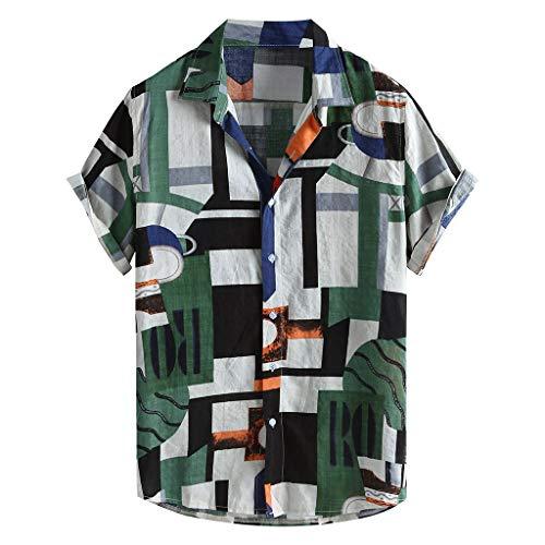 Hawaiihemd 3D Herren Gedruckt Kurzarm Button Down Lustig Sommer Strandhemd Freizeit Hemden für Männer beiläufige Hemden Aloha Hemd für Strand Party Feiertag
