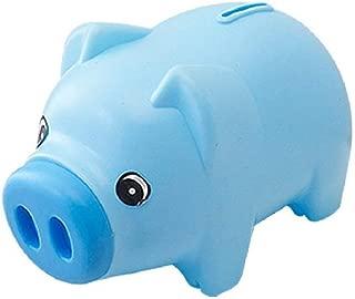 Plastic Cute Unisex Piggy Bank Coin Saving Pot Cash Collectible Saving Box Pig Toys for Toddler, Kids, Girls, Boys, Adults, Favorite Unique Gift Idea(Blue)