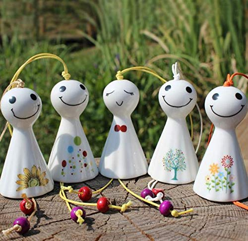 Hpybest Hot Japan Stijl Zonnige Pop Wind Chimes Antieke Huis Zegen Decoratie Keramiek Smile Pop Windchimes