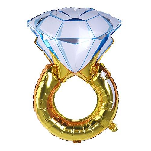 """NUOLUX 2pcs hincha Anillo de Diamante Globo romántico más Grande de la Hoja 33 """"para la decoración del Partido de Compromiso del Aniversario de Boda"""