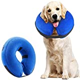 Supet Collar de Perro Collar de Perro Inflable de Protección Collar de Protección Collar de Mascota Ajustable Collar de Protección Cómodo con Velcro