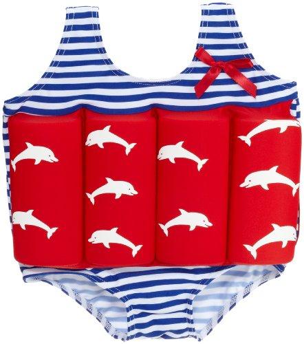 Beverly Kids Jungen UV Schutz Bojen-Badeanzug Costa Del Sol, rot/blau/weiß, 110, 20007