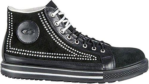 COFRA moderner sportlicher Damen Sicherheitsschuh Point SP SRC im Sneakerlook (39, schwarz)