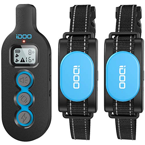 iDOO Dog Training Collar with 2 Collars, Dog Shock Collar with Remote for Small Puppy Medium Large Breed Dogs, Rechargeable E-Collar with Beep Vibration Shock, IPx7 Waterproof, 330 Yards Range