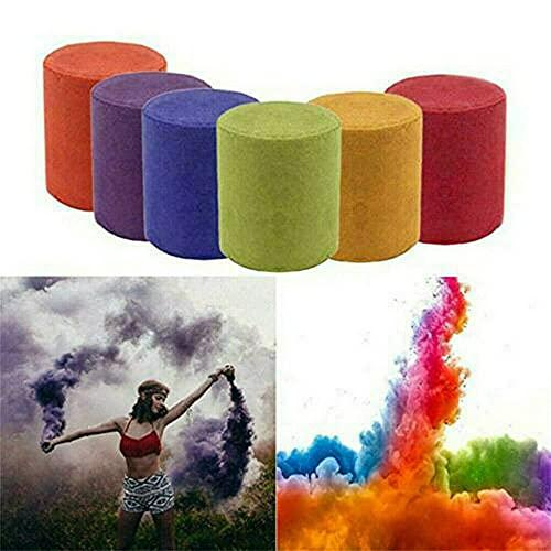 DTIN Lot de 6 bombes fumigènes colorées pour Halloween et Noël - Effet fumé - Pour photographie, cinéma, télévision, vidéo - Accessoire de photographie