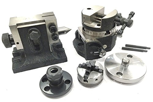 Why Should You Buy PRECISION 3″ INCHES/80 MM TILTING ROTARY TABLE WITH ROUND VICE,ER16 COLLET ADAPTOR, TAILSTOCK & CHUCK W/BACK PLATE + FIXING T NUT BOLTS- MILLING INDEXING TOOLS (WITH 70 MM 4 JAWS INDEPENDENT CHUCK)