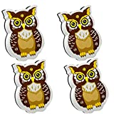 WEKOIL Magnetic Dry Erase Erasers Whiteboard Eraser Chalkboard Eraser Cute Owl Erasers with Felt for Students Teachers Classroom Office Home Pack of 4