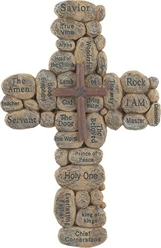 Faith Collection The FC 1317 Resin Stones Names of Jesus Cross 10 product image