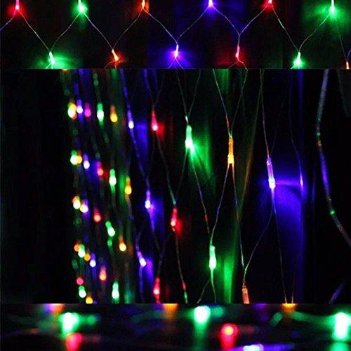 HJ® 300 LEDs LED Lichterkette Lichtervorhang 8 Modi 4.5m * 1.6m, Verbindbarer Entwurf, RGB, 230V, Sternen LED Lichterketten für Weihnachten / Hochzeit / Party, Weihnachtsbeleuchtung