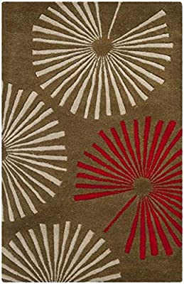 Safavieh Soho Collection SOH749A Handmade Brown and Ivory Premium Wool Area Rug (6' x 9')