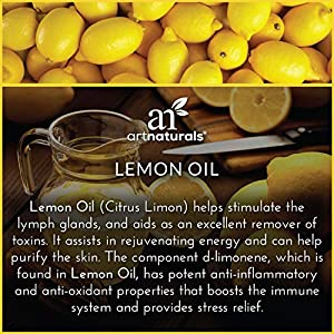 ArtNaturals Lemon Essential Oil 4oz - 100% Pure Lemons Oils - Therapeutic Grade Best for Skin, Hair, Natural Healing Solution, Aromatherapy & Diffuser - 120ml Large Glass Bottle w/Dropper Kit #2