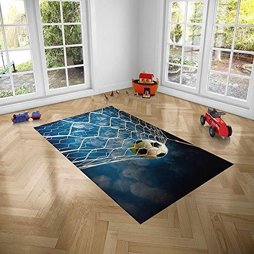 Oedim Alfombra Infantil Fútbol para Habitaciones PVC | 95 x 133 cm | Moqueta PVC | Suelo vinílico | Decoración del Hogar | Suelo Sintasol | Suelo de Protección Infantil |