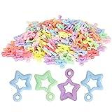 300 piezas cuentas sueltas cuentas espaciadoras 5 puntas en forma de estrella de plástico cuentas artesanales con cuentas pendiente accesorios de joyería DIY