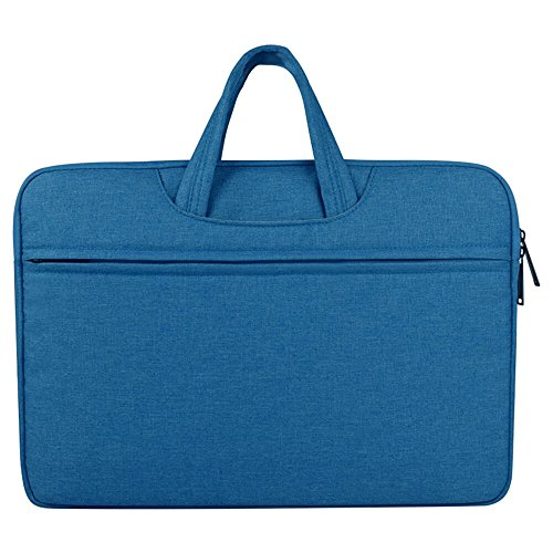 CLOUDSTOO Tasche für Laptop/Notebook/MacBook/Notebook/Ultrabook/Netbook, wasserdicht, Schutzhülle, weich gepolsterte Abdeckung mit Reißverschluss & Tragegriff 15.6 Pulgadas blau