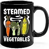 N\A Verduras al Vapor Regalo Divertido del Juego de Palabras para Veganos Taza