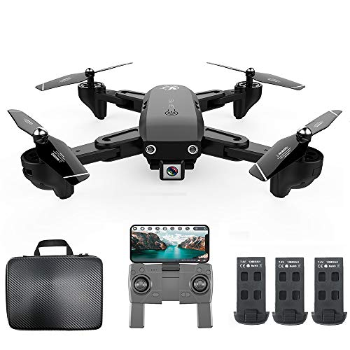 Goolsky CSJ S166GPS Drohne mit Kamera 1080P Handtasche Follow me Auto Zurück nach Hause WiFi FPV Live Video Geste Fotos RC Quadcopter für Erwachsene