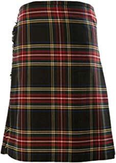 Men's Kilt Deluxe Tartan Goth Outdoor Utility Kilts Highland Skirt