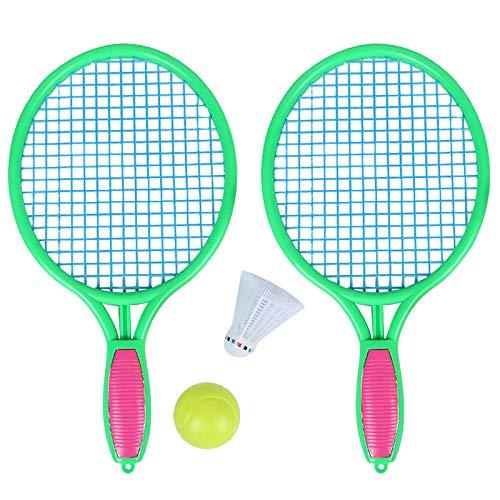 Haude Raqueta de Tenis de Playa Raqueta de Tenis de Deportes al Aire Libre para Ni?Os con Pelota de BáDminton Verde