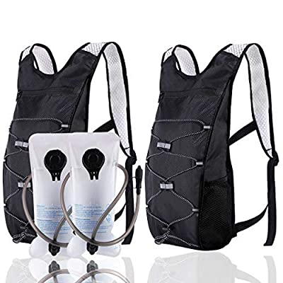 ArgoHome 2-Pack Hydration Backpack with 2l Water Bladders Small Hiking Backpack for Women Men Kids Waterproof Lightweight Water Backpack for Hiking Running Cycling Climbing Camping Mountain Bike