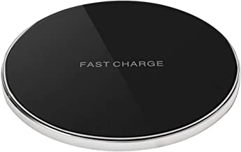 Portable Charger pad,Qi-Certified Fast Wireless Charging Pad for iPhone 11/11 Pro/11 Pro Max/Xs MAX/XR/XS/X/8 Plus,10W Wireless Charger for Galaxy Note 10/Note 9/Note 8/S10/S9/S8(No AC Adapter) sliver
