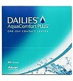 Dailies Aqua Comfort Plus - Lentes de contacto esféricas diarias (R 8.7 / D 14 / -3.5 Diop), Pack de 90 uds.