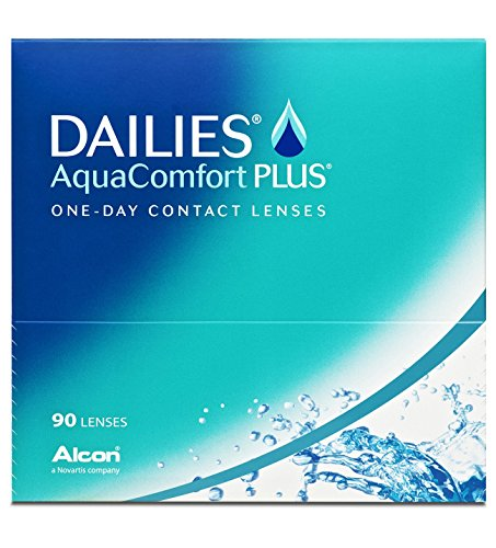 Dailies AquaComfort Plus Tageslinsen weich, 90 Stück / BC 8.7 mm / DIA 14.0 / -2,50 Dioptrien