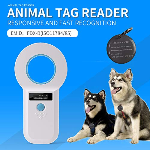 Yanzeo AR180I Pet Microchip Reader, Microchip Registration, Bluetooth 2.4G EMID Fox-B(ISO11784/11785) 134.2KHz/125KHz Animal ID Tag Handheld Scanner Animal Tag Reader