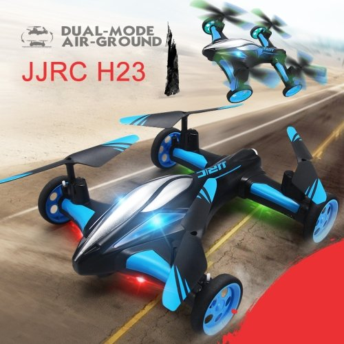 Sconosciuto Generic JJR/C H23 Flying & Car Headless Mode 2.4GHz 6 Axis Drone RC Quadcopter with Remote Control(Blue)