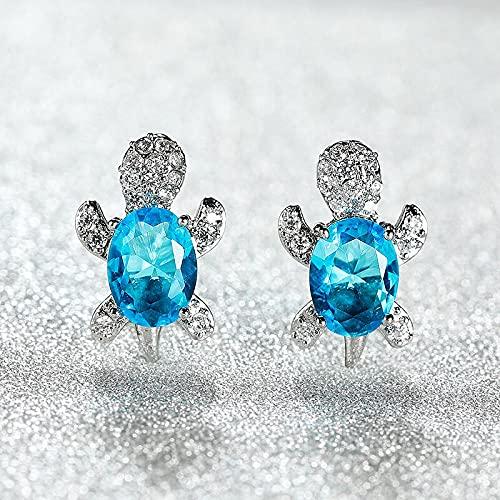YANGYUE New Personality Creative Tortoise Zircon Earrings Female S925 Silver Earrings Fashion Temperament Simple Jewelry Earrings