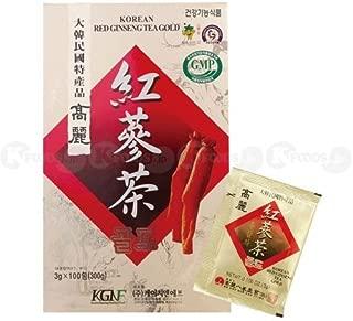 [1808] KGNF 高麗紅参茶 粉末茶 1箱(3g×100個) 韓国産 [並行輸入品]