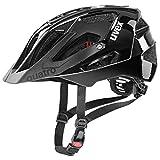 uvex Quatro Casco de Bicicleta, Unisex-Adult, All Black, 52-57 cm