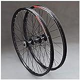CHP Bicicletas de Ruedas de 26 Pulgadas MTB Ruedas de la Bici de Doble Pared de Llantas de Aluminio del Cassette del Eje rodamiento Sellado del Freno de Disco QR 32H 7-11 Velocidad