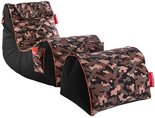 Gamewarez RX Camouflage Sitzsack-Set, Polyesterfaser mit 100% PVC-Innenbeschichtung, Tarnfarben), Einheitsgröße