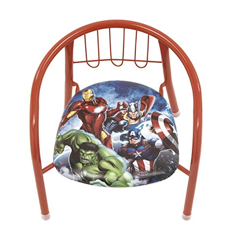 Avengers- Marvel Chaise en Métal pour Enfants, AV11922, Bleu, 35.5 x 30 x 33.5 centimètres