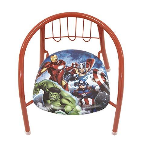 ARDITEX- Avengers-Sedia in Metallo, Colore Rosso Scuro, AV11922
