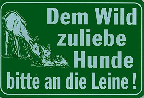 Gebotsschild - DEM WILD ZULIEBE HUNDE BITTE AN DIE LEINE! - 308536 - Gr. 30 x 20 cm