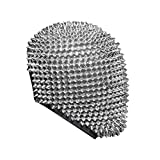 Spikes Studded Full Face Jewel Margiela Masck,Cosplay Face Bandanas for Halloween Cosplay Funny (Silver)