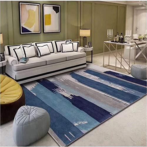 W&HH SHOP Moderner minimalistischer Wohnzimmer-Teppich Nordic Ins geometrischer Muster-Boden-Matten-Ausgangswohnzimmer-Anzeigen-Teppich,A1