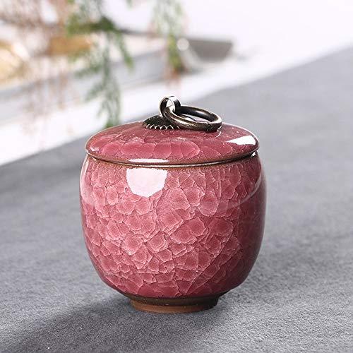 ZYHJAMA Feuerbestattung Urne Keramik Klassische Andenken Urne, handgefertigt und erschwinglich Mini Urne geeignet für eine kleine Anzahl von Katze und Hund Asche