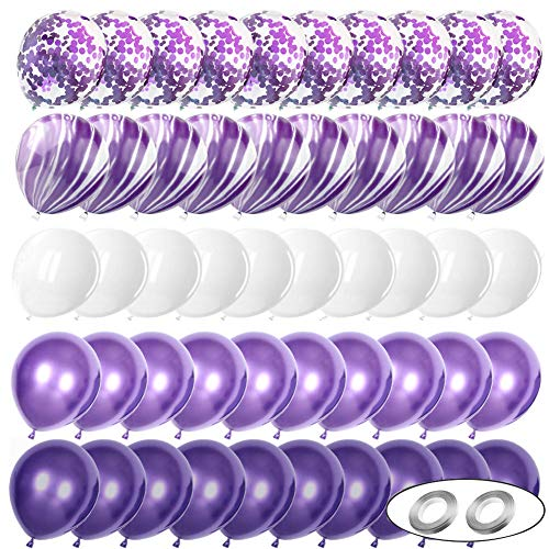 Sunshine smile Luftballons lila ,latexballons metallic,Helium Ballons Metallic,Bunte Luftballons Metallic,Achat Latex Luftballons (Lila)