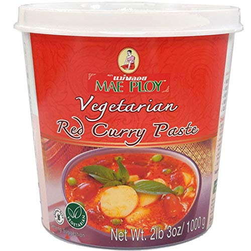 Mae Ploy Red Curry Vegeterian Version 35 Oz