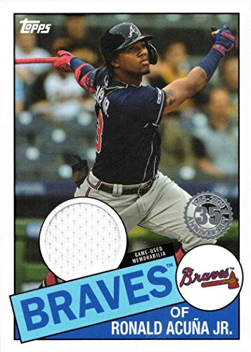 2020 Topps 1985 Relics #85R-RA Ronald Acuna Jr. Game Worn Braves Jersey Baseball Card