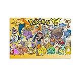 ASDFX Pokemon 27 Poster, dekoratives Gemälde, Leinwand,