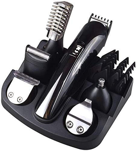 HJJWL Hair Cutting Tool, Stainless Steel Lithium Ion+ Beard and Nose Trimmer for Men, Hair Clippers, Detail Shaver, Rechargeable, All in One Men's Grooming Kit