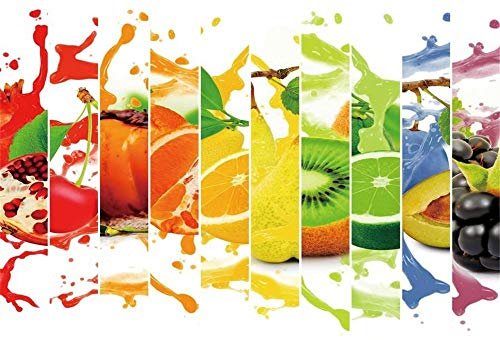 BuEnn 10x8ft Fruit Splash Photo Backdrop Juicy Fruits Slices Cumpleaños Eventos Summer Tea Party Fotografía Fondo Colorido Resumen Photo Booth Props