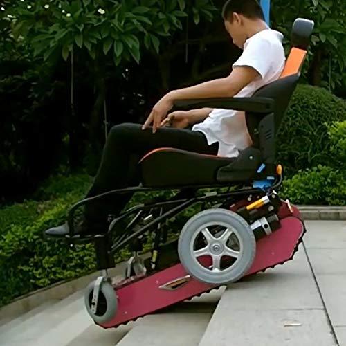 SJZV Elektrischer Multifunktionskletterrollstuhl für Behinderte Treppen rauf und runter Rollstuhl vollautomatisch Intelligenter Elektrorollstuhl,Pink