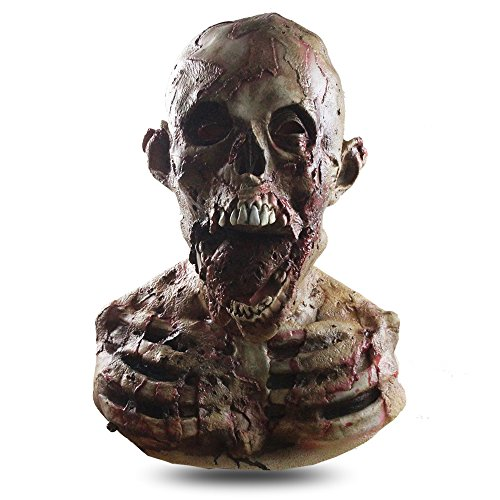 Halloween Horror Zombie Mask, Realistic Scary Mummy Latex Mask